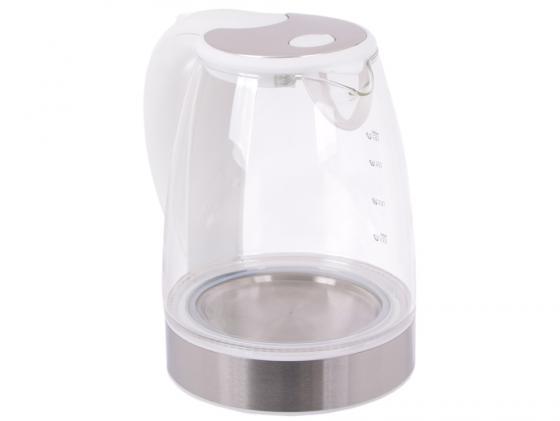 Чайник ENDEVER 319G-KR 2400 Вт 1.8 л пластик/стекло белый прозрачный чайник endever kr 319g