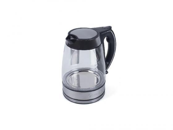 Чайник ENDEVER 321G-KR 2800 Вт 1.7 л пластик/стекло чёрный прозрачный чайник endever 321g kr 2800 вт 1 7 л пластик стекло чёрный прозрачный