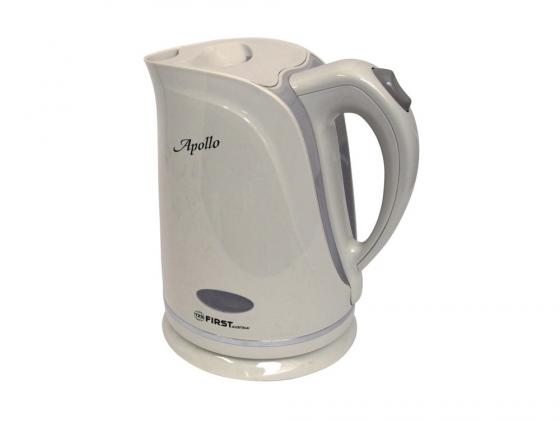 Чайник First 5412-1 2200 Вт 1.7 л пластик белый серый
