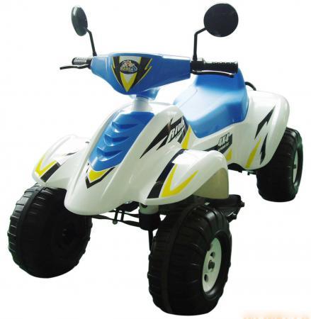 Квадроцикл бело-синий 103см., Бич Рейсер 12В Пламенный мотор CT-558 WB
