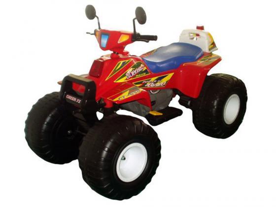 Купить Квадроцикл красный 122см Биг Рейсер 12В Пламенный мотор CT-650 RD0A, Электромобили и мопеды для детей