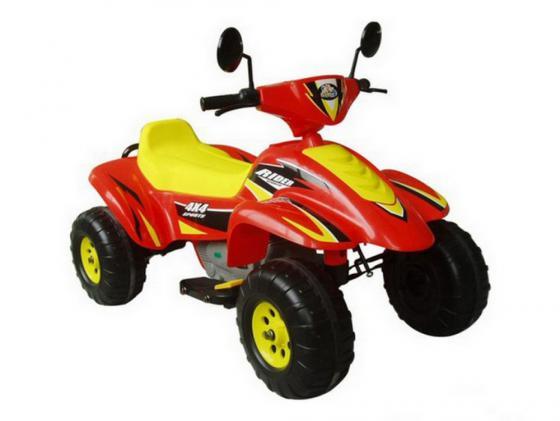 Квадроцикл красно-желтый 103см Бич Рейсер 12В Пламенный мотор CT-558 RY пламенный мотор машинка инерционная volvo пожарная охрана