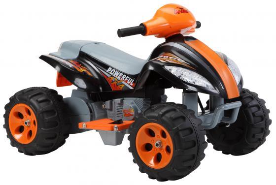 Квадроцикл черный 35W, 6V/7Ah Пламенный мотор 86078 трактор с ковшом пламенный мотор зелёный от 6 лет пластик 87575