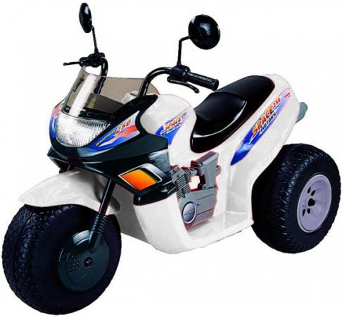 Мотоцикл белый 103 см., трехколесный, Спейс 2*6 В Пламенный мотор CT-770 WH0A пламенный мотор машинка инерционная volvo пожарная охрана