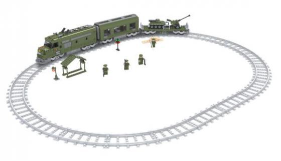 Железная дорога Голубая стрела Конструктор Военный эшелон Голубая стрела 87193 голубая рубашка