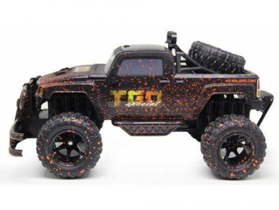 Внедорожник на радиоуправлении Пламенный Мотор Трофи-рейд 4*4 черный от 4 лет пластик 87586 игрушка пламенный мотор land rover трофи 870101