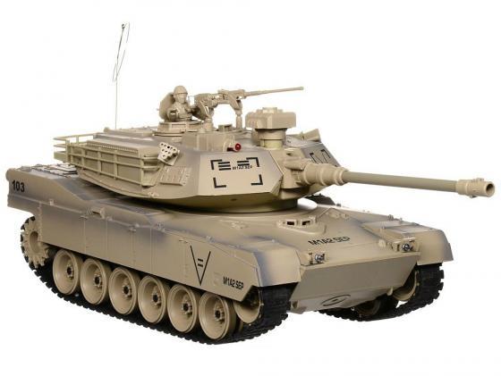 Танк на радиоуправлении Пламенный Мотор Abrams М1А2 (США) 1:18 коричневый от 8 лет пластик 87560 abrams фотография
