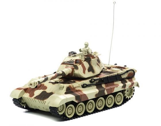 Танк на радиоуправлении Пламенный мотор King Tiger (Германия) 1:28 камуфляж от 4 лет пластик 87554 танк на радиоуправлении пламенный мотор king tiger 1 28