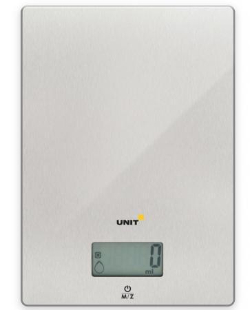 Весы кухонные Unit UBS-2152 серебристый цена и фото