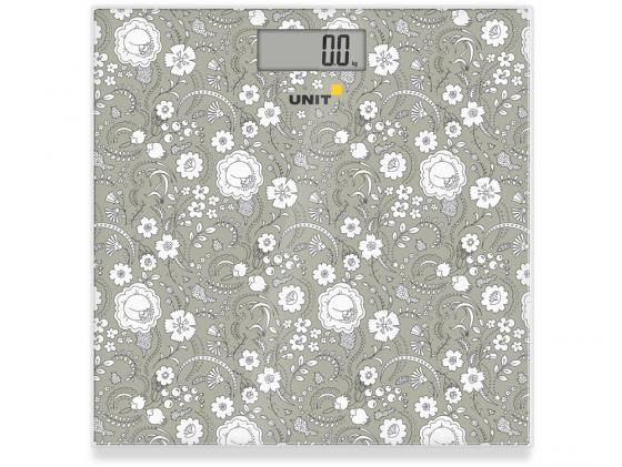 Весы напольные Unit UBS-2052 тёмно-серый рисунок unit ubs 2200 pale grey весы напольные