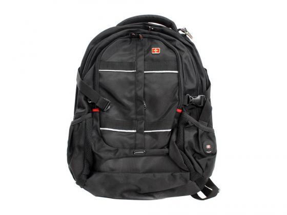 Рюкзак 16 Continent BP-304 BK полиэстер черный цена