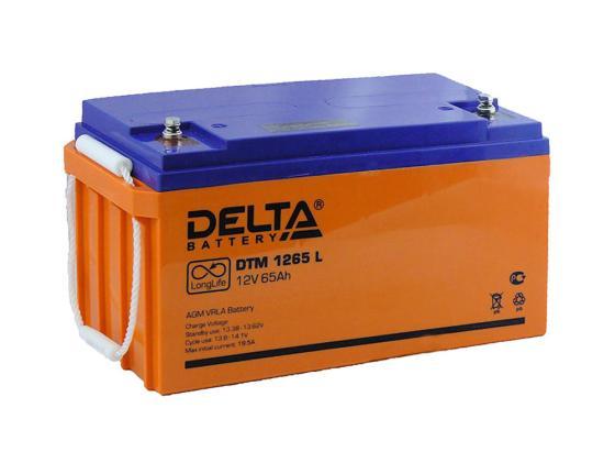 Батарея Delta DTM 1265 L 65Ач 12B delta dtm 1207 7ач пр