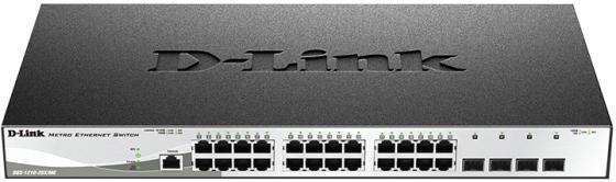 Коммутатор D-Link DGS-1210-28X/ME/B1A управляемый 24 порта 10/100/1000Mbps 4xSFP цена