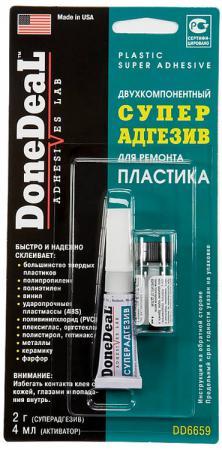 Суперадгезив для пластика Done Deal DD 6659 жгуты самовулканизирующиеся для ремонта шин done deal dd 0368