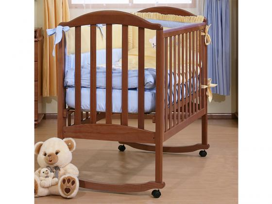 Кроватка-качалка Лель Люкс АБ 17.0 (орех светлый)