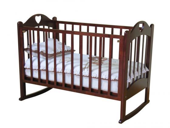 Кроватка-качалка Красная Звезда Любаша С635 (вишня)