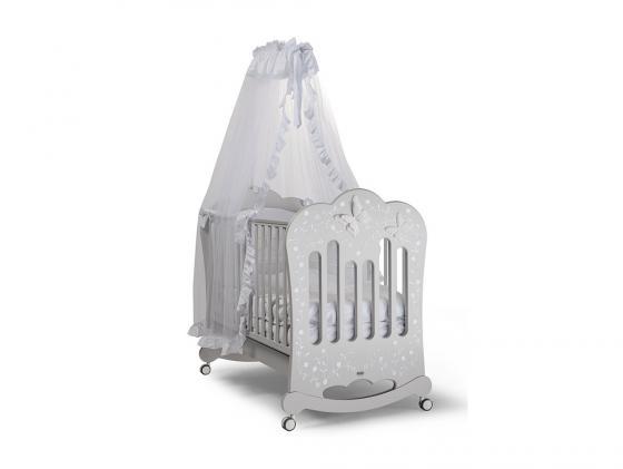 Кроватка-качалка Feretti Charme (grigio/chiaccio-ice gray) детские кроватки feretti elegance dondolo качалка
