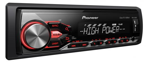 Автомагнитола Pioneer MVH-280FD USB MP3 CD FM 1DIN 4x100Вт черный supra scd 4002dcu black автомагнитола cd mp3