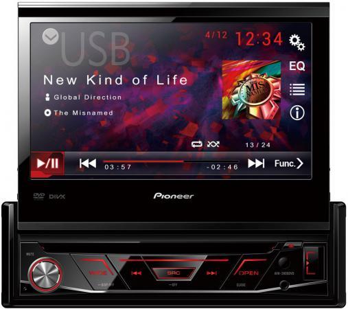 Автомагнитола CD DVD Pioneer AVH-3800DVD 1DIN 4x50Вт pioneer avh p6000dvd