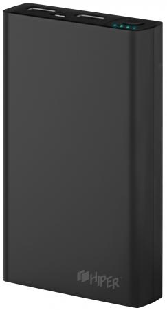 Портативное зарядное устройство HIPER Power Bank RP10000 10000мАч черный зарядное устройство портативное универсальное xiaomi mi power bank 2c white vxn 4220 gl