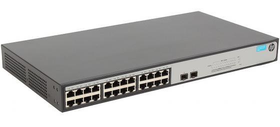 Коммутатор HP 1420-24G-2S управляемый 24 порта 10/100/1000Mbps 2xSFP JH018A коммутатор hp 1420 24g 2sfp