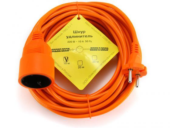 цена на Удлинитель Power Cube PC L1 B10 1 розетка 10 м оранжевый