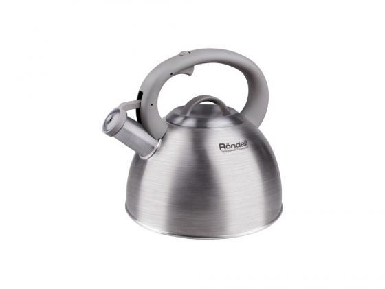 Чайник Rondell RDS-434 серебристый 3 л нержавеющая сталь чайник kitchenaid kten20sbob чёрный 1 9 л нержавеющая сталь