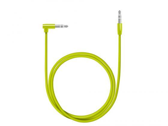 Кабель соединительный 1.2м Deppa Slim 3.5 Jack (M) - 3.5 Jack (M) L-коннектор AUX зеленый