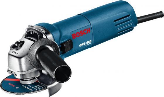 Углошлифовальная машина Bosch GWS 660 115 мм 670 Вт углошлифмашина bosch gws 15 150 cih 0 601 830 522