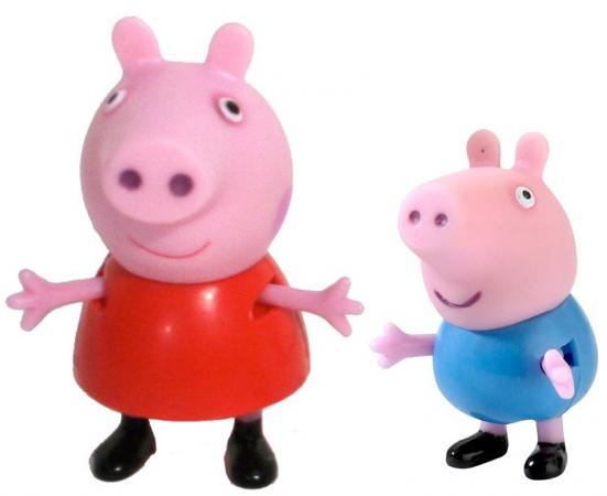 Игровой набор Peppa Pig Пеппа и Джордж 2 предмета 28813 odeon light 2912 3w odl16 125 хром хрусталь бра e14 3 40w 220v salgera