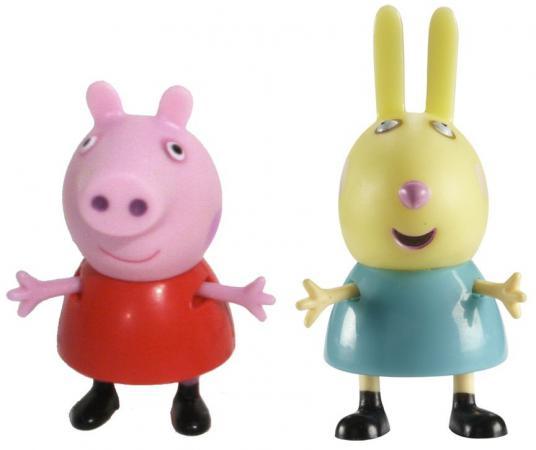 Игровой набор Peppa Pig Пеппа и Ребекка 2 предмета 28815 игровой набор peppa pig пеппа и зои 2 предмета 28814