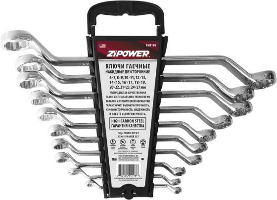 Набор гаечных ключей ZIPOWER PM 4198 10шт автомобильный компрессор с пылесосом zipower pm 6510 15л мин