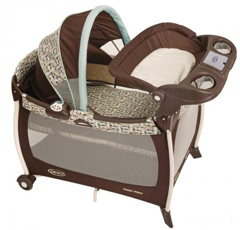 Манеж-кровать Graco Silhouette 9B08 (carlisle) коляска graco graco прогулочная коляска mirage w parent tray and boot jaffa stripe