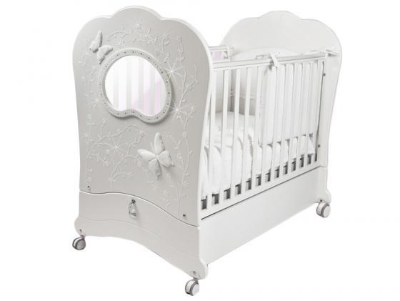 Кроватка с маятником Feretti FMS Oblo Charme Brillante (bianco) кроватка с маятником feretti fms oblo majesty brillante bianco