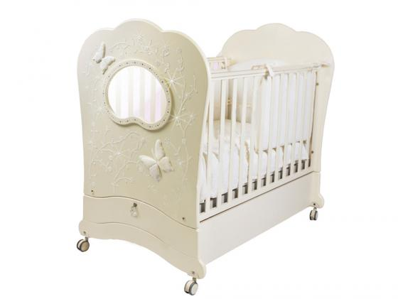 Кроватка с маятником Feretti FMS Oblo Charme Brillante (avorio) кроватка с маятником feretti fms elite avorio
