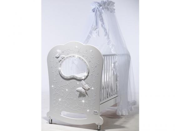 Кроватка с маятником Feretti FMS Oblo Majesty Brillante (bianco) кроватка с маятником feretti fms oblo majesty brillante bianco