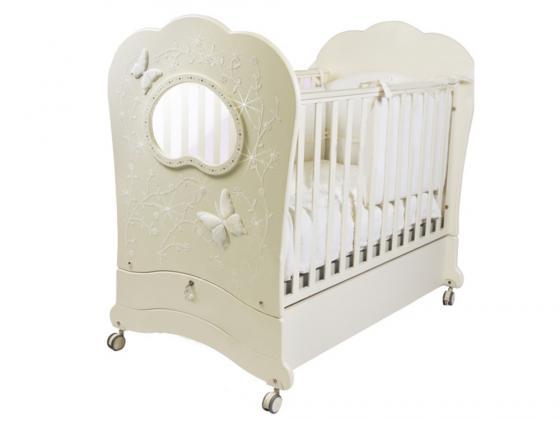 Кроватка с маятником Feretti FMS Oblo Majesty Brillante (avorio) кроватка с маятником feretti fms elite avorio