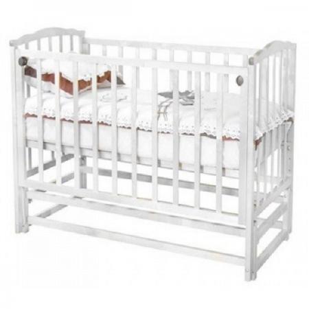 Кроватка с маятником Красная Звезда Кристина С619ЗН (белый) обычная кроватка красная звезда кристина с 619 слоновая кость