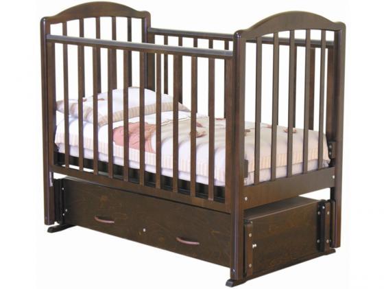 Кроватка с маятником Красная Звезда Ирина (шоколад) обычная кроватка красная звезда ирина с625 красно коричневая