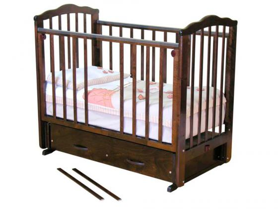 Кроватка с маятником Красная Звезда Элина (шоколад) обычная кроватка красная звезда агата с718 шоколад