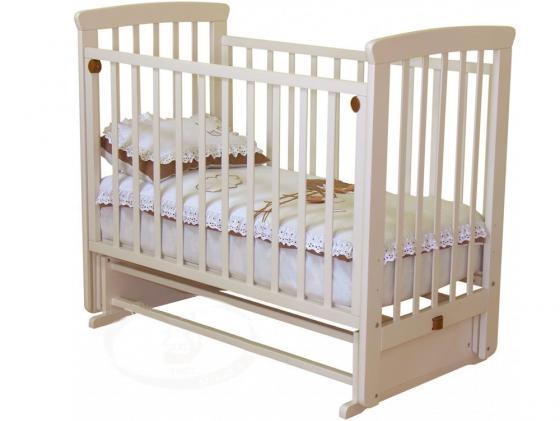 Кроватка с маятником без ящика Красная Звезда Марина (слоновая кость) кроватка с маятником sweet baby eligio avorio слоновая кость