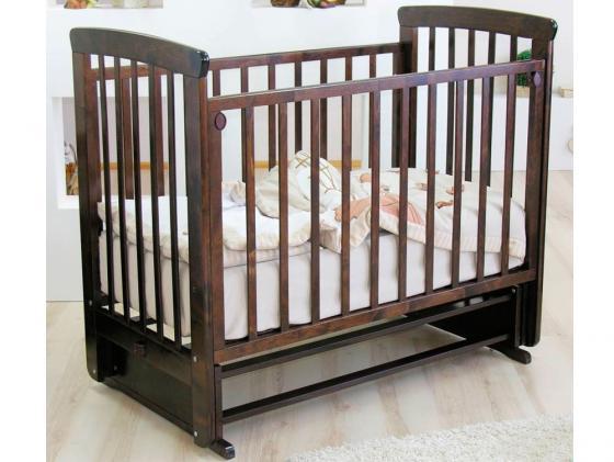 Кроватка с маятником Красная Звезда Марина (шоколад/резьба №15) обычная кроватка красная звезда виталина 851 шоколад