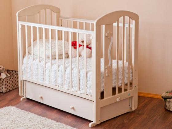 Кроватка с маятником Красная Звезда Агата С719 (слоновая кость/накладка-ростомер №11) обычная кроватка красная звезда агата с718 белая
