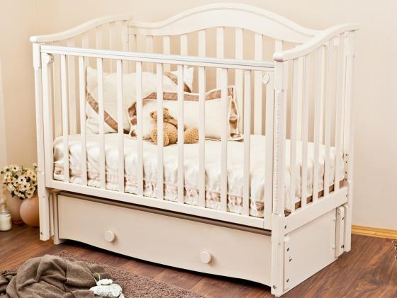 Кроватка с маятником Красная Звезда Леонардо (слоновая кость) кроватка с маятником sweet baby eligio avorio слоновая кость