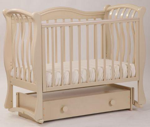 Кроватка с маятником Лель Маргаритка БИ08.4 (светлый орех) обычная кроватка счастливый малыш дюймовочка 008 светлый орех