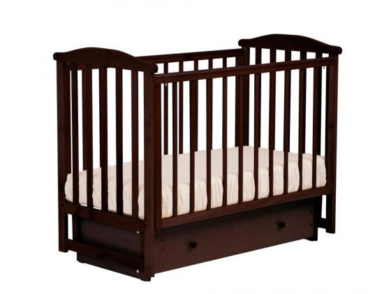 Кроватка с маятником Лель Лютик АБ15.2 (махагон) кроватка с маятником лель василёк би09 3 махагон