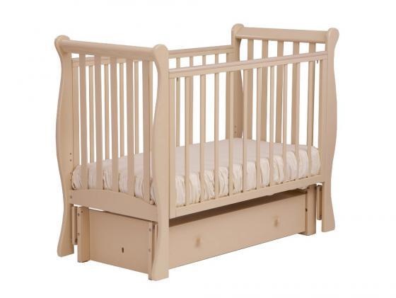 Кроватка с маятником Лель Лаванда АБ21.3 (слоновая кость) кроватка с маятником sweet baby eligio avorio слоновая кость