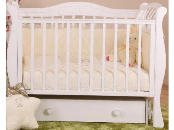 Кроватка с маятником Лель Маргаритка БИ08.3 (белый) серьги с кошачьим глазом лель снкг 1722