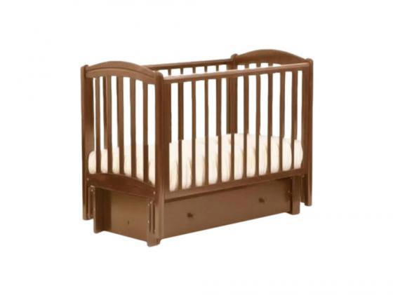 Кроватка с маятником Лель Василёк БИ09.3 (орех светлый) обычная кроватка счастливый малыш 005 варвара розовый светлый орех