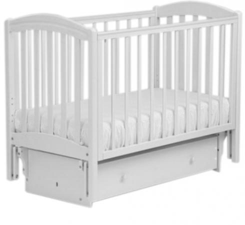Кроватка с маятником Лель Василёк БИ09.3 (белый) кроватка качалка лель лютик аб 15 1 белый